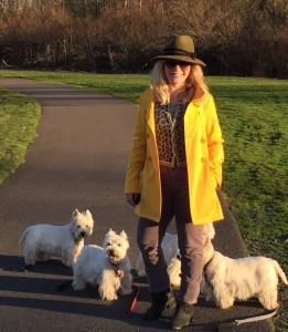 joy and westies on greenway